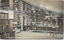 Santa Barbara,California,Interior of Mission Library,Used,Flag Cancel,1911