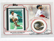 2016 Topps Baseball World Series Champion Coin & Stamp 2013 Dustin Pedroia 12/50
