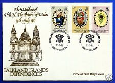 THE WEDDING OF H.R.H. PRINCE CHARLES & LADY DIANA SPENCER, OFFICIAL FDC, 1981.