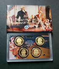 2007-S PRESIDENT DOLLARS PROOF SET FIRST FOUR ONE-DOLLAR COINS WITH BOX/COA  7-P