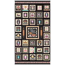 Home Sweet Home~QT FABRIC PANEL~SM squares~baking- sweets- retro-kitchen~26324-J