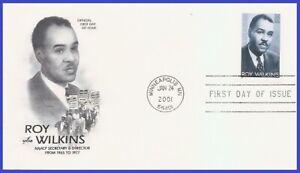 USA5 #3501 U/A ARTCRAFT FDC   Roy Wilkins Black Heritage