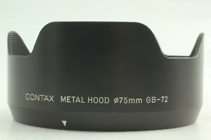 [Exc+++++] Contax GB-72 Metal Hood For 645 Planar 80mm & 55mm Lens From JAPAN