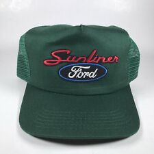 Ford Sunliner Trucker Style Snapback Hat Made in Usa Green