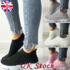 Womens Autumn Knit Speed Sock Runner Ladies Slip On Trainers Sneakers Shoes Size
