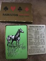 VINTAGE HAMILTON PLASTIC COATED PLAYING Cards-  Bridge Game