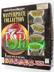 Gioco PC Advanced Dungeons & Dragons MASTERPIECE COLLECTION 6 Games SSI AD&D TSR