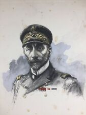 Vice Amiral Docteur 1920 Marine Charles Fouqueray Lithographie ancienne signée
