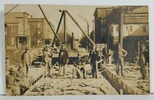 Rppc Occupational Road Construction Crew c1910 Equipment Real Photo Postcard P6