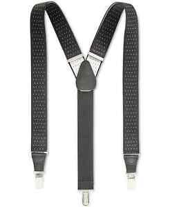 Club Room Men's Pin-Dot Suspenders Black One Size