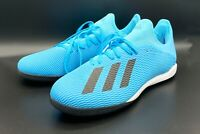 ADIDAS X 19.3 TF MENS BLUE INDOOR TURF SOCCER CLEATS SHOES NEW SIZE 11 [F35375]