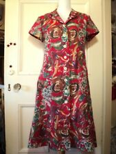 marilyn sanity vintage floral 1940s style dress M button through