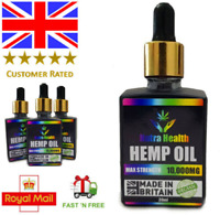 HEMP OIL 10000mg 10,000mg Organic drops MAX STRENGTH  - Premium Product - 30ml