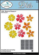 Elizabeth Crafts Designs Cutting Die Set ~ BUNCH OF FLOWERS 4 ~ Layering ~ 1030
