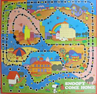 Snoopy Come Home 1973 Milton Bradley Game Board