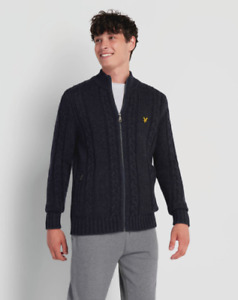 Lyle & Scott Lambswool Cable Zip Cardigan BNWT Designer Men's Clothing Knitwear