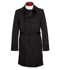 Ralph Ralph Lauren Solid Plaid Lined Mens Belted Nober Rain Coat 40 S Black $395