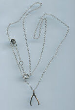 925 STERLING SILVER WISHBONE LUCK NECKLACE