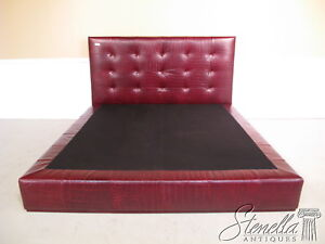 16729E:  High Quality Tufted Textured Leather Queen Bed