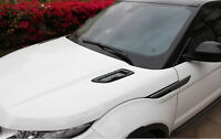 ABS Black Car Front bonnet Hood Air Vent Cover Trim For Range Rover Evoque 12-20