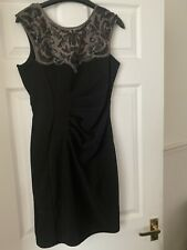 Brand New Black Lipsy Dress With Sequin Detail Size 12