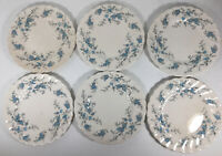"""6 MYOTT ENGLAND  STAFFORDSHIRE WARE FORGET ME NOT BREAD PLATES 6"""""""