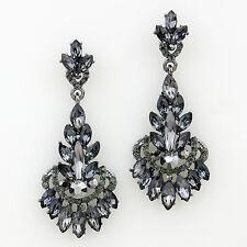 CLEARANCE Shourouk Black Diamond Crystal Earrings (Sparkle-2139)
