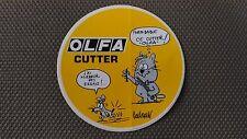 Autocollant Vintage « Olfa Cutter » Très Bon Etat.