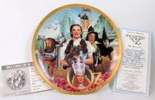 Wizard Of Oz Somewhere over the Rainbow 50th Anniv Plate Coa Hamilton 1989 Gold