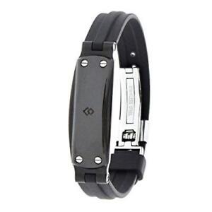Colantotte Magtitan GEO Bracelet 17-22cm Black Stiff Shoulder Japan Tracking