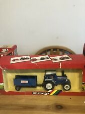 Rare Britaind Ford Tractor & Claas Trailer Gift Set
