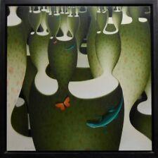 """Rupert Gatfield B1959 gran óleo sobre lino original firmado """"fractal cántaro de'"""
