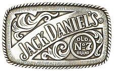 Jack Daniels Old No 7 Belt Buckle 4-1/4 x 2-1/2 Silver, Metal With Logo