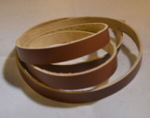 "Lace Leather Strings - 1/2"" x 24"" - Top Grain Leather - Pack of 6 (E116)"