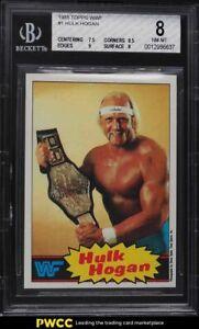 1985 Topps WWF Wrestling Hulk Hogan #1 BGS 8 NM-MT