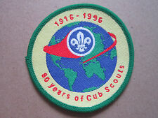 80 Years Of Cub Scouts Woven Cloth Patch Badge Boy Scouts Scouting