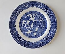 "Vintage Alfred Meakin ""Old Willow"" Ironstone Side Plate Blue & White 17.6cm"