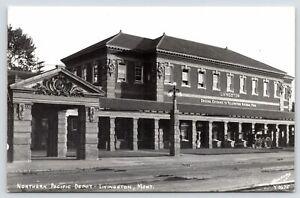 Livingston MT Beaux Arts Northern Pacific Railroad Depot~Yellowstone Gate RPPC