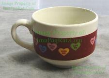 Unique SWEATHEARTS Candy Hearts Coffee Cup / Soup Mug - VALENTINES BIG PICS!