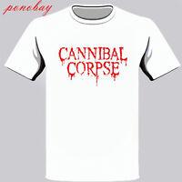 New Cannibal Corpse Logo Men's White T-Shirt Size S-3XL