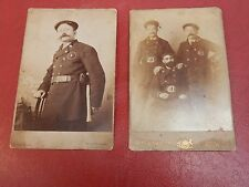 More details for fire brigade london 1880 1890 pair of cabinet photographs 3 firemen firefighters
