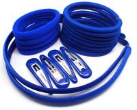 20 Piece Navy Blue Hair Elastic Band Bobble Snap Hair Clip Slide School Set