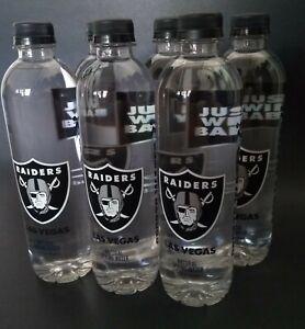 6 Las Vegas Raiders Water Inaugural season Six Full 16.9 OZ Bottles Unopened