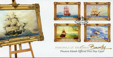 Pitcairn Islands 2019 FDC Paintings of HMAV Bounty 4v Cover Boats Ships Stamps