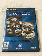 Rise of Nation: Gold Edition-Game + Add On - Ubisoft Exclusive (PC DVD-ROM) New