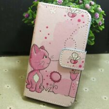 1x Cat with Bee Wallet Card Holder flip case cover for Various Mobile phone
