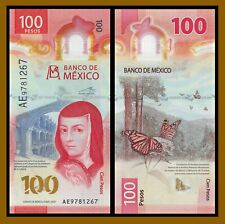 Mexico 100 Pesos, 2020 P-New Banknote Polymer Butterfly Free Combine Unc