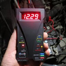 12V Smart LED Digital Battery Tester Voltmeter and Alternator Analyzer For Cars