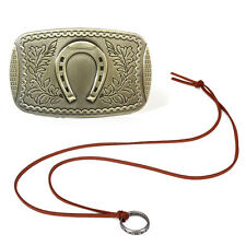 Uncharted Drake's Deception Bronze Belt Buckle & Ring Necklace 2pcs Great Gift