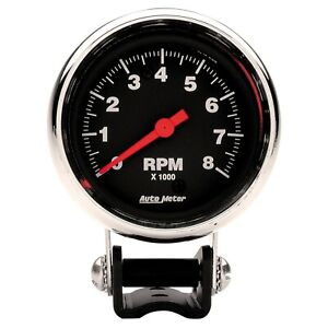 Auto Meter For Traditional Chrome 2-5/8in 0-8000 Rpm Pedestal Tachometer - 2893